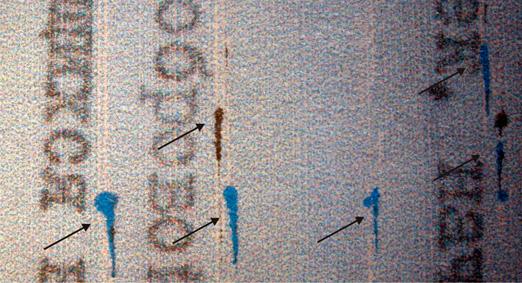 дефект печати картриджа